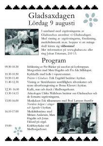 Programaffisch till Gladsaxdagen 2003