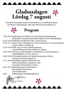 Programaffisch till Gladsaxdagen 2004