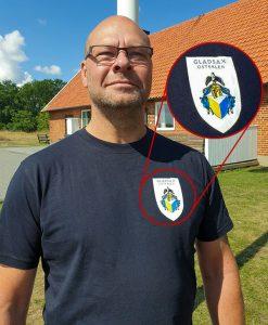 T-tröja med Gladsax vapensköld
